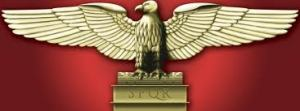 The eagle-look familiar? It is the symbol of Roman Empire