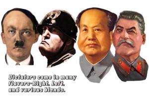 Hitler, Mussolini, Mao, Stalin