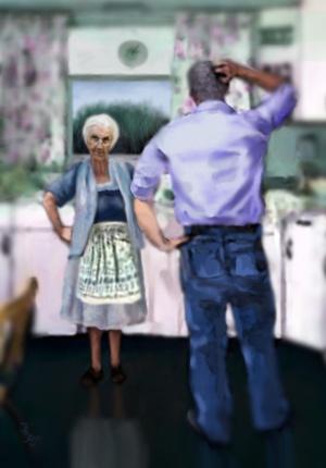 Grandma Took No Crap painting by Je' Czaja