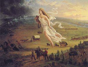The spirit of Manifest Destiny leading America ever-onward