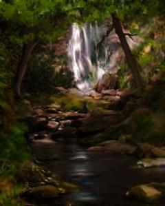 Waterfall Painting by Je' Czaja