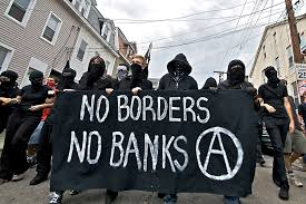 Anarchists protesting