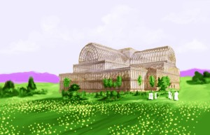 The Crystal Palace was a cast-iron and plate-glass building originally erected in Hyde Park, London, England, to house the Great Exhibition of 1851-Salvation through Science