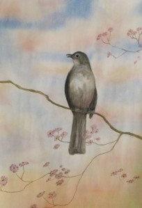 Mockingbird morning  pastel by Je'