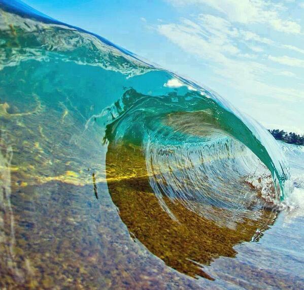 Clean, clear, curvy water