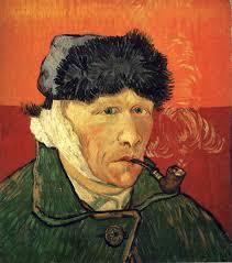 Van Gogh with bandaged ear