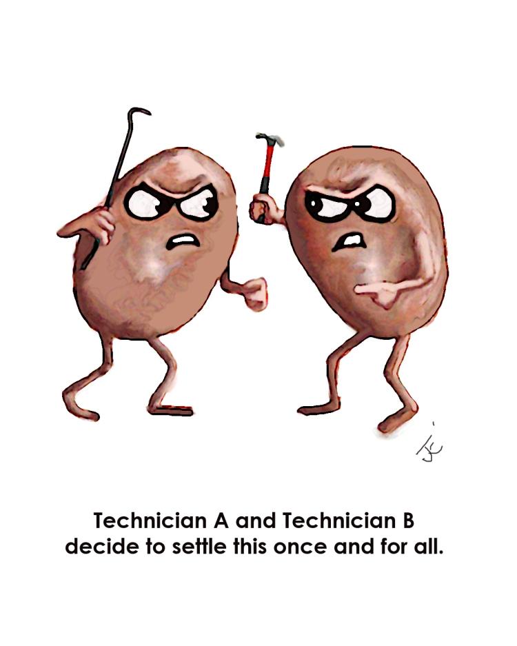 Technician A Technician B