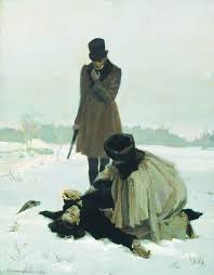 Pushkin Died in a duel defending some lady's honor