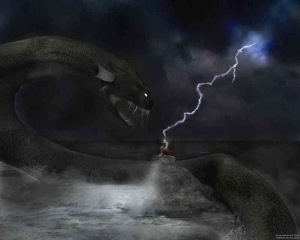Thor battles the serpent